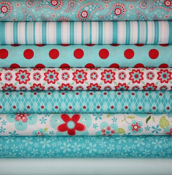 riley blake sugar and spice-I love turquoise and red!