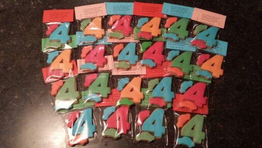 Birthday Cookies / verjaardagskoekjes 4 jaar