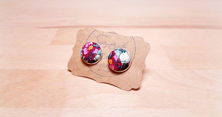 Gemelli da polso fiori - blu - fucsia - rosa - gemelli da sposo - cufflinks - matrimonio - argento - bronzo - gemelli da polso di SERENEhandmade su Etsy