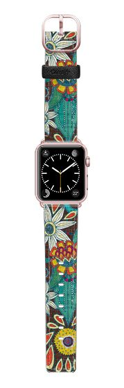 Casetify Apple Watch Band (38mm) Saffiano Leather Watch Band - sarilmak apple watch band by Sharon Turner @casetify #applewatch #strap #summer #boho #vintage