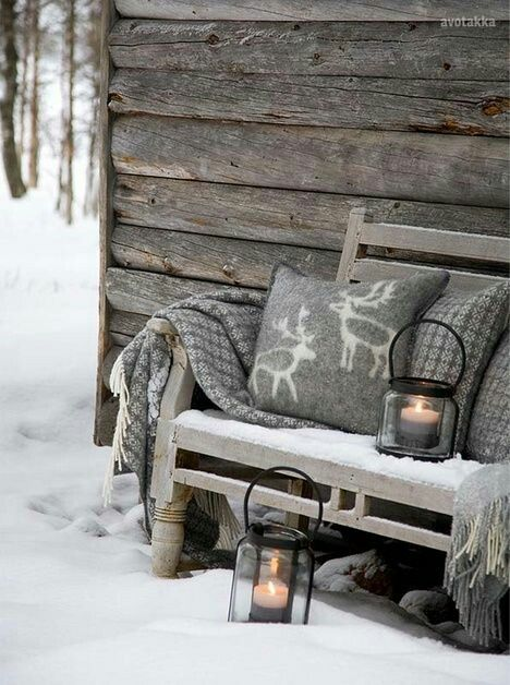 Love the Nordic pattern, and the gray and white