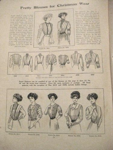 Pretty Blouses for Christmas Wear 1911