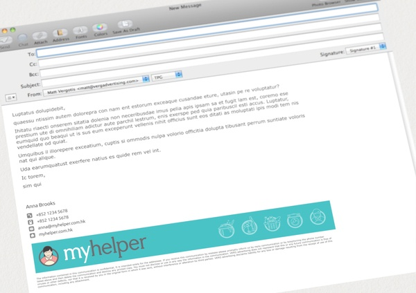 how to make a professional email signature with logo