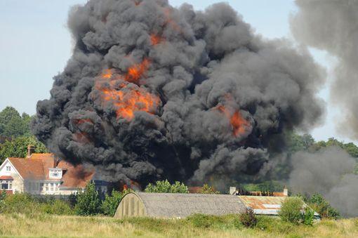 Airplane crash at airshows