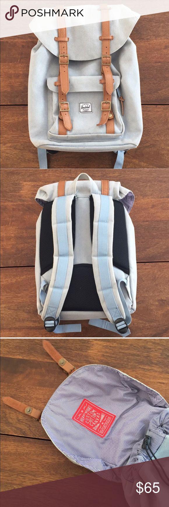 Herschel Backpack Little American Canvas  Beautiful blue, excellent condition Herschel Supply Company Bags Backpacks