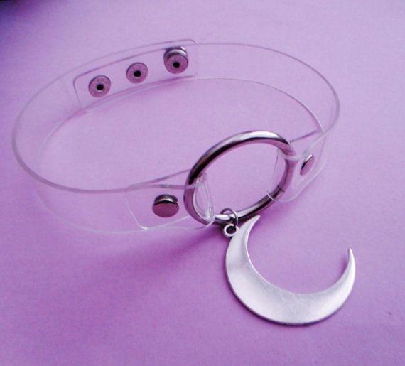 chiaro di luna girocollo collo anello o chiaro di OfStarsAndWine