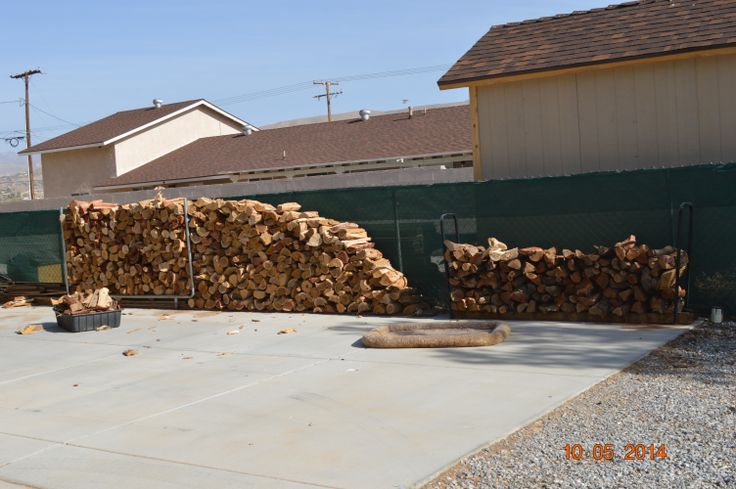 The wood pile on 5-10-14