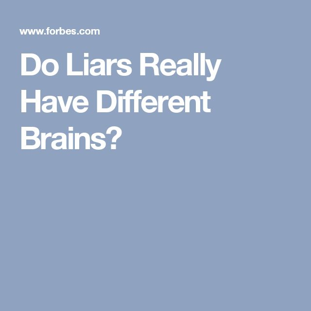 Do Liars Really Have Different Brains?
