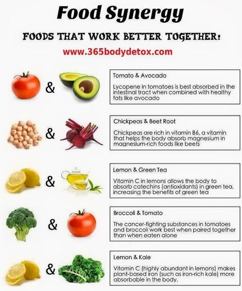 Foods that work well together