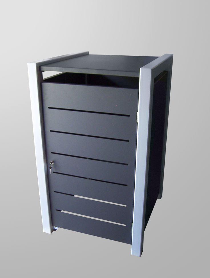 Mülltonnenbox Malone für 120 oder 240 Liter Mülltonnen. Das System ist beliebig erweiterbar.