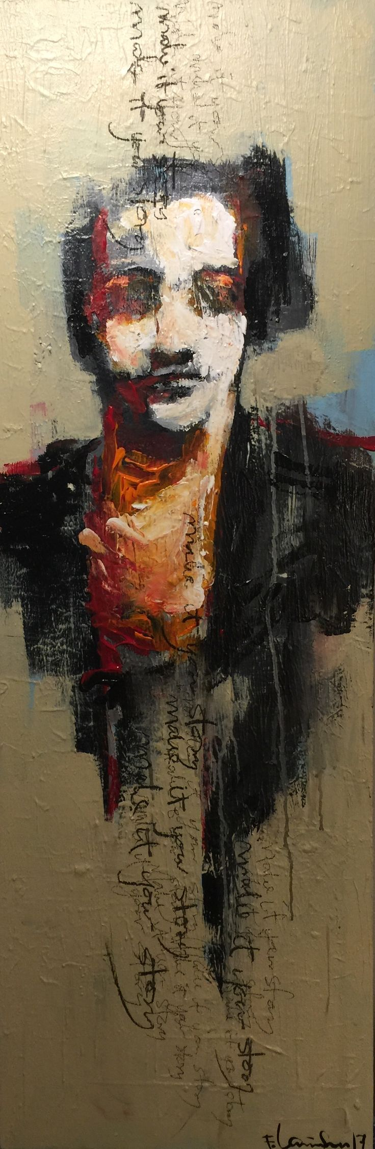 Painted by Frode Lauvsnes #art #painting #acrylicpainting #figurative
