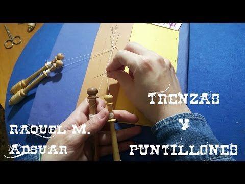 Trenzas y Puntillones en el encaje de bolillos (nivel aprendiz) - YouTube