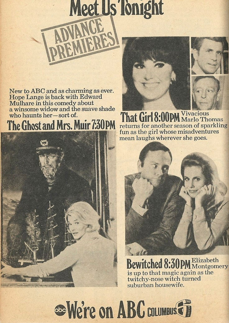 1969 Thursday Nights on ABC  My favorite shows ever! And they were on Thursday nights, didn't have to fake being sick so I could miss church....( never worked anyway)!