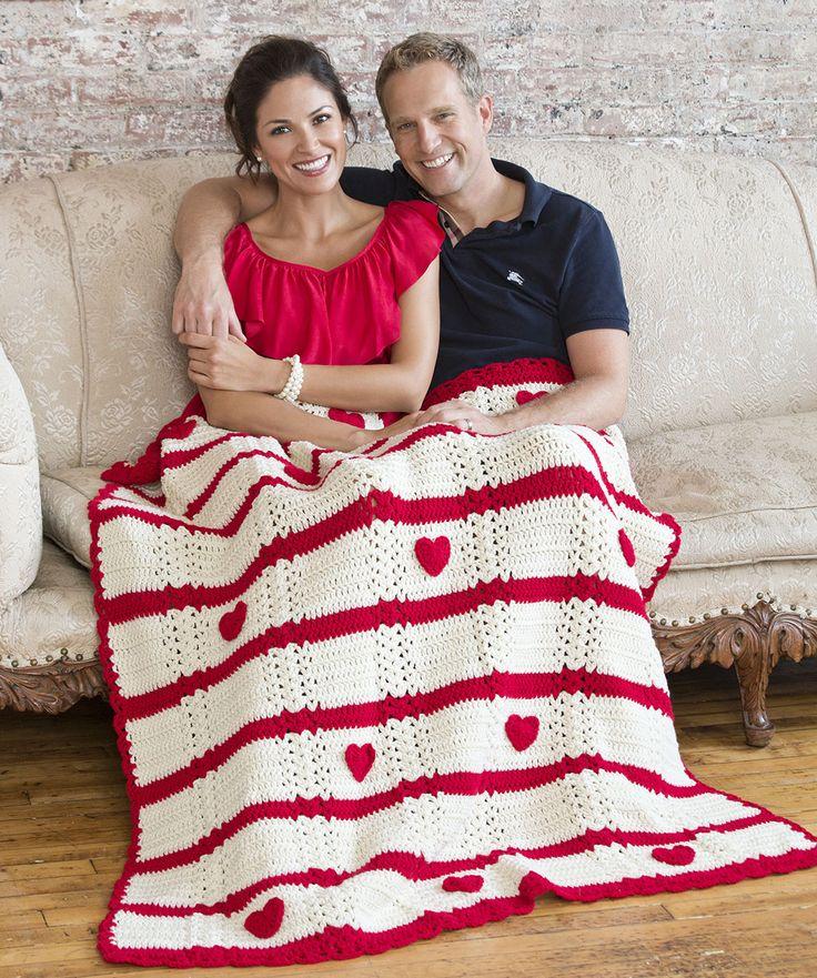 Be My Valentine Throw Crochet Pattern | Red Heart