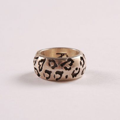 Leopard Print Sterling Silver Ring