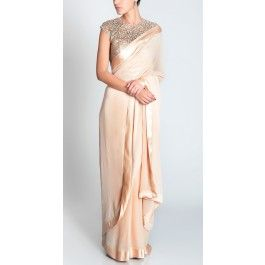 Sari+with+embroidered+corset
