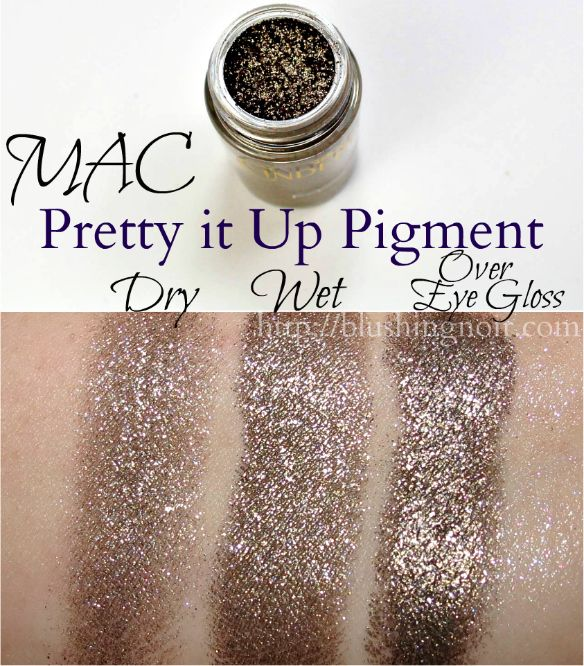 MAC Pretty It Up Pigment Swatches // Cinderella Collection
