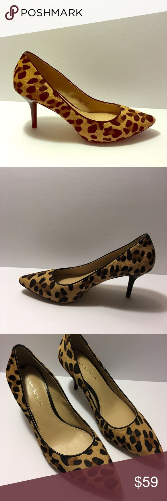 Via Spiga Leopard Pump Size 8M Excellent condition! 3 inch heels. Leather strip in the back. Via Spiga Shoes Heels