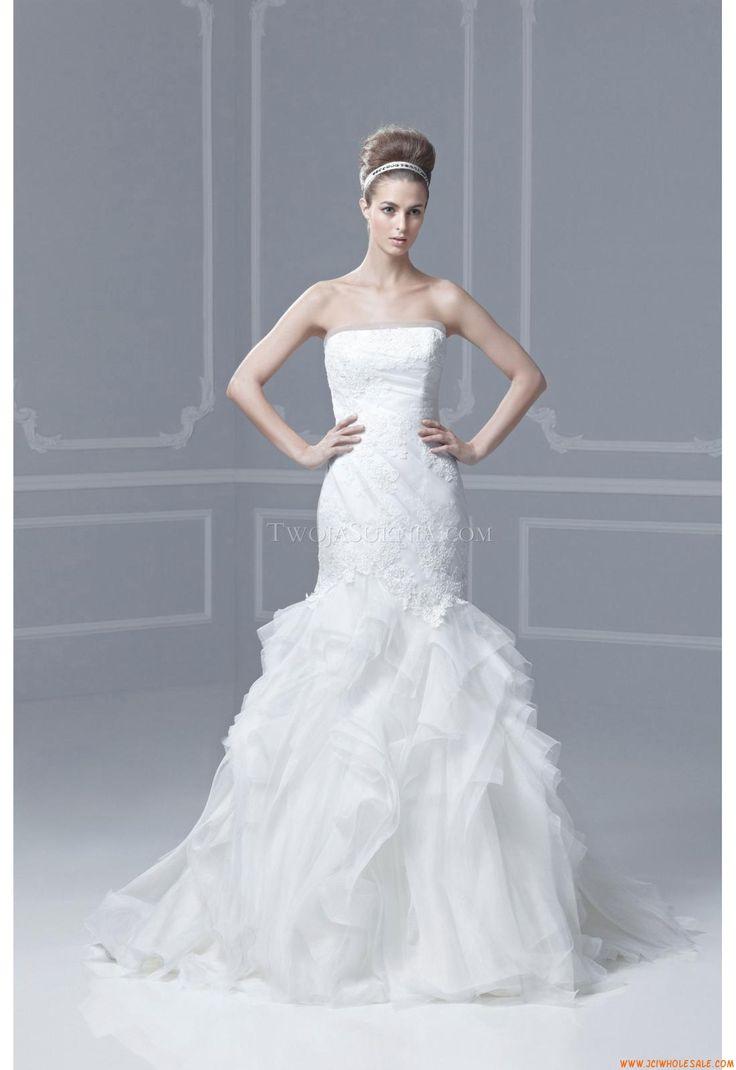 Mermaid wedding dresses with feather bottom   best Enzoani images on Pinterest  Short wedding gowns Wedding