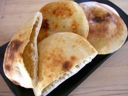 Receta de Pan de pita de dificultad Media para 2 personas lista en 80 minutos.