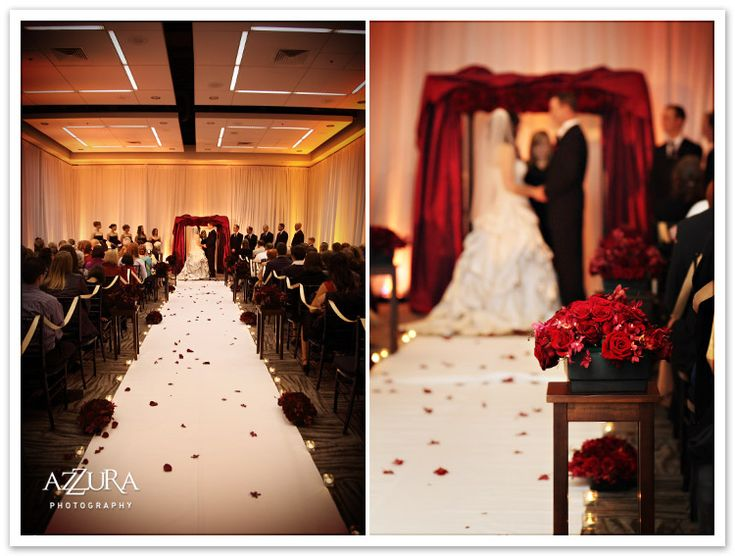 Red Black And White Decorations For A Wedding Ceremony The Specialists
