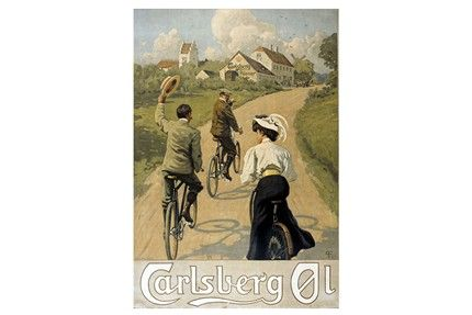 This poster was created by the painter Paul Fischer. The poster was used from 1908 until the 1930s. Size 50 cm x 63 cm.