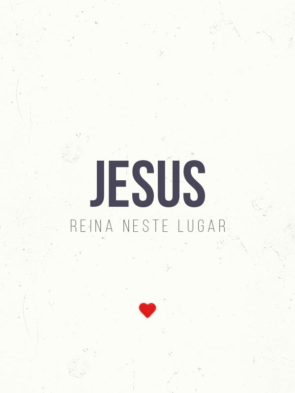 Jesus reina neste lugar ❤