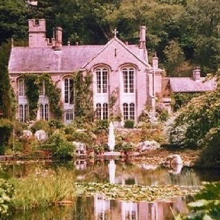 Pink Mansion in Woods