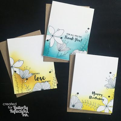 Butterfly Reflections, Ink.: Wildflower Card Set