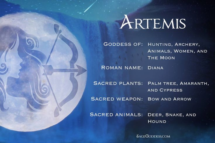 #Artemis - The Goddess of hunting, archery, animals, women and the #moon.