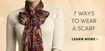 7 Ways to Wear a Scarf! Clothing - Fashion Accessories, Bags, Kaftans,