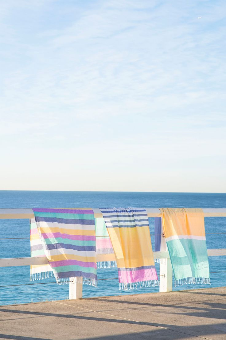 Beautiful beach blankets