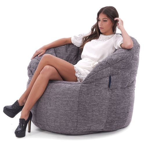 Interior Bean Bags Chair | Butterfly Sofa - Luscious Grey | Bean Bag Australia