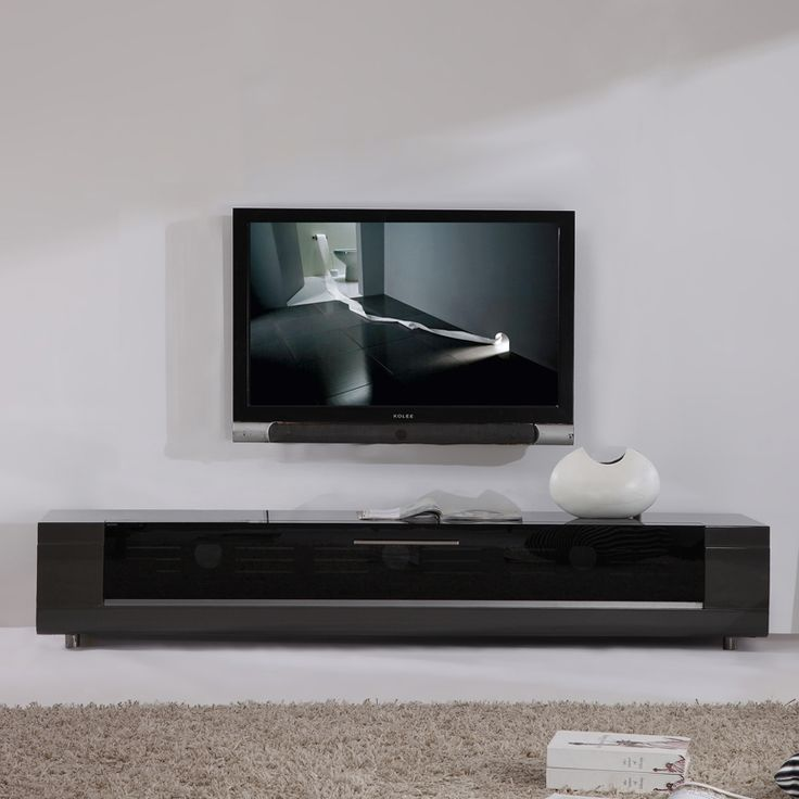 """Share and Save $5 Off Any Order Over $99. (excludes a few products) Editor Remix Series 79"""" Modern TV Stand in High Gloss Gray Lacquer #dynamichome"""