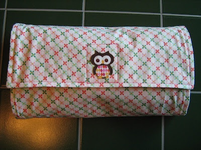 Tutorial Practical baby shower gift owl changing pad