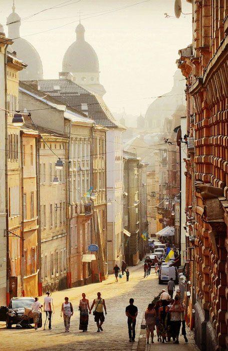street of Lviv Ukraine