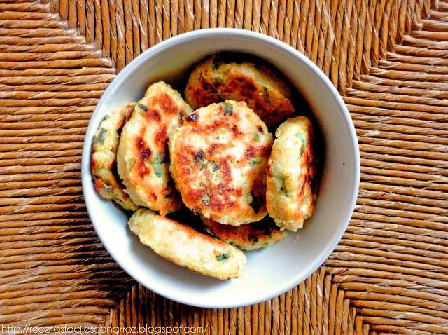 Croquetas vegetarianas, sin gluten, sanas (sin freír) de arroz y zapallito (o zucchinni) y super economicas!!