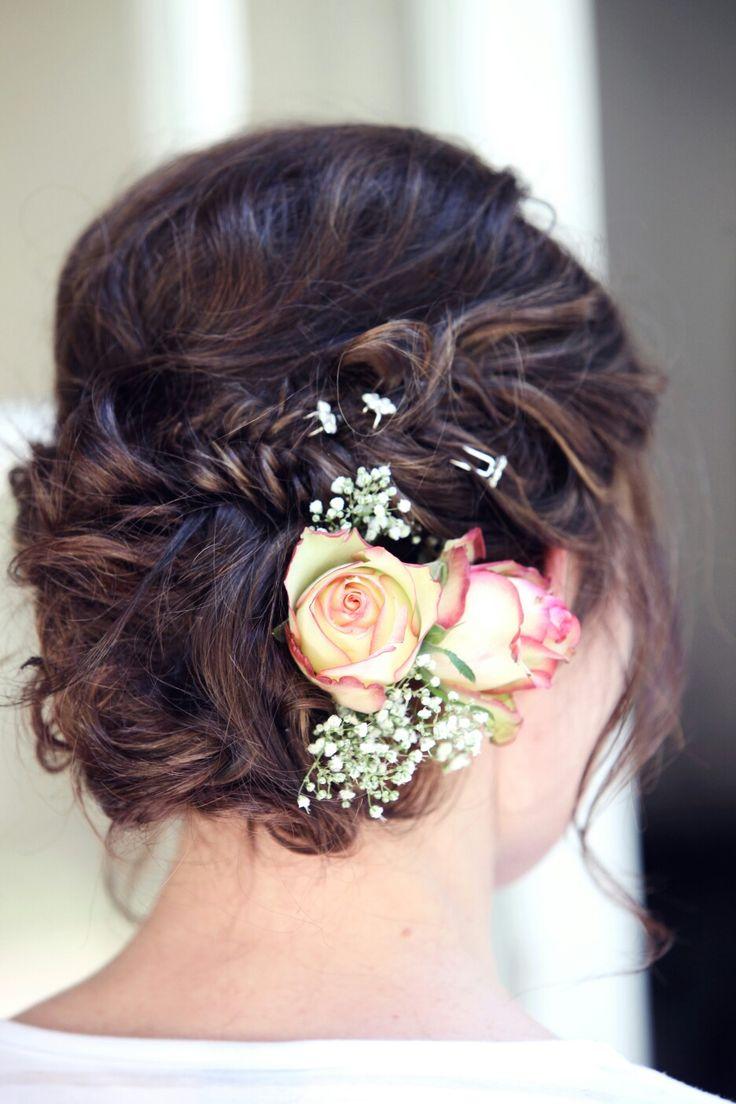 20 February 2016 - Pieter & Izel Hattingh - Bride's floral hair accessories