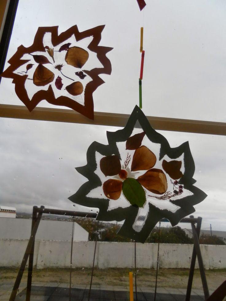 ideias para o outono jardim de infancia : ideias para o outono jardim de infancia:trabalho com folhas de outono