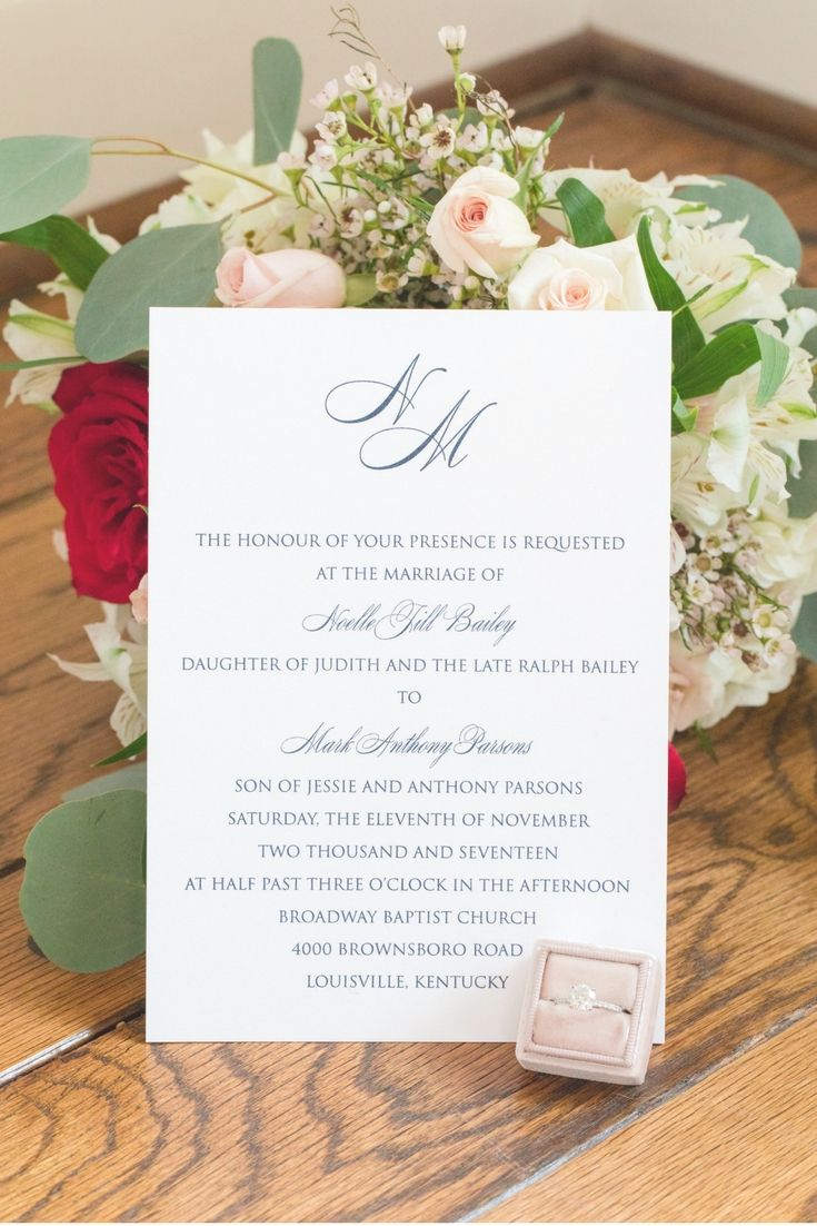 Kevin and Anna Photography Kentucky Wedding Invitation White with ...
