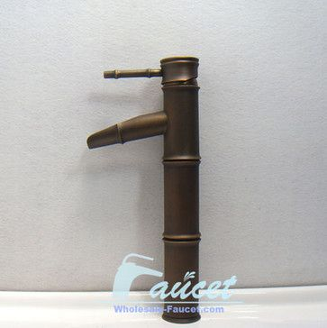 Antique Brass Bamboo Bathroom Faucet 5313F - tropical - bathroom faucets - sinofaucet