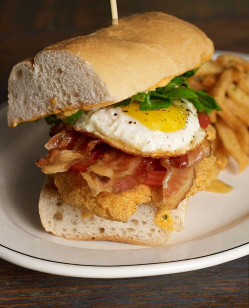 C.E.B.L.T. Po Boy [catfish, egg, bacon, lettuce, tomato] from Pearl Dive Oyster Palace in Washington, DC