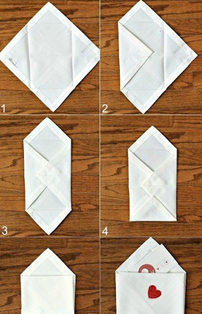 Folding technique for napkins