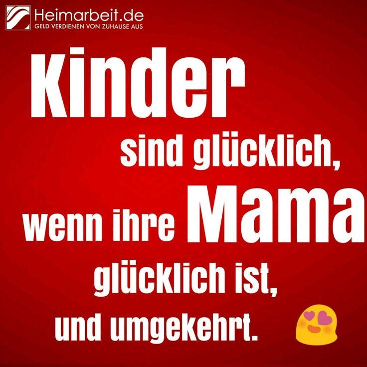 Kinder sind glücklich, wenn ihre Mama glücklich ist und umgekehrt.  #Mutterliebe                                                                                                                                                                                 Mehr