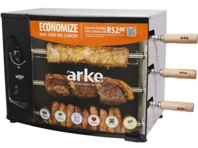915492d3c  churrasqueira a Gás Natural Rotativa Arke AGR 03 - para 3 Espetos com as  melhores