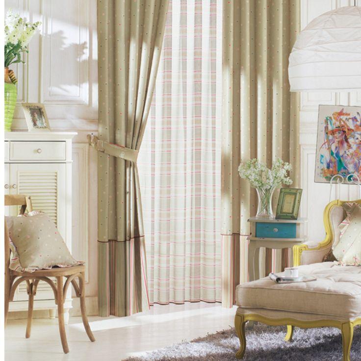 Polka Dots Neoclassical Brown Kids Curtains  #kids #curtains #homedecor #nursery