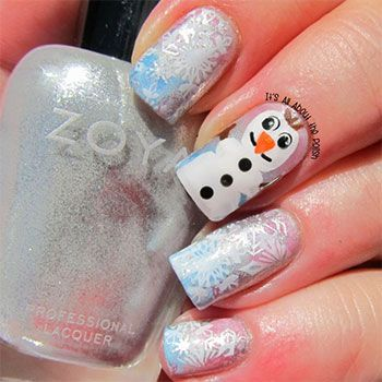 15-Disney-Frozen-Olaf-Nail-Art-Designs-Ideas-Trends-Stickers-2014-Olaf-Nails-5