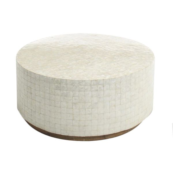 decorative monument natural offwhite round coffee table overstock shopping great deals