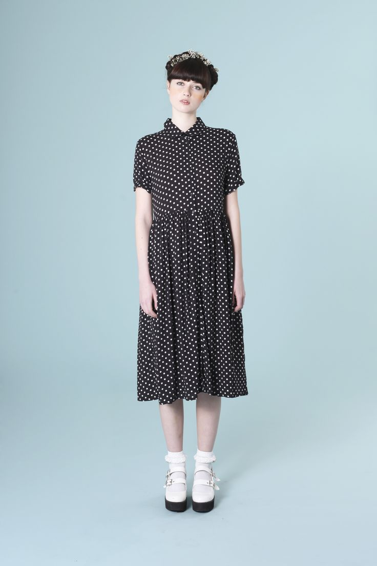 Shirt Dress in Polka Dot  http://www.thewhitepepper.com/products/shirt-dress-in-polka-dot