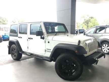 2013 Jeep Wrangler Unlimited JK MY13 Sport (4x4) White 6 Speed Manual Softtop Beckenham Gosnells Area Preview